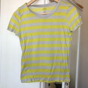 Yellow Gray Striped T-Shirt